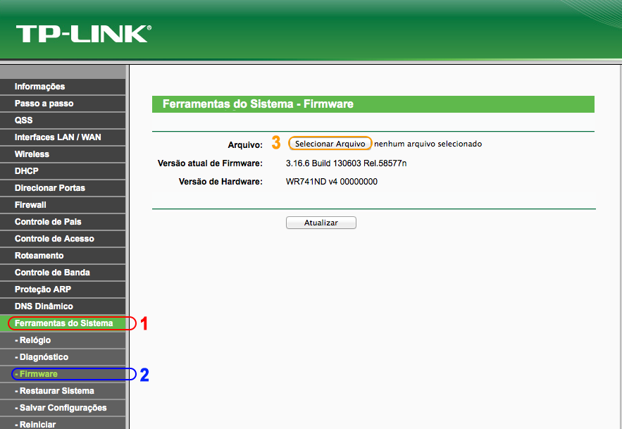 atualizar firmware tp linktl-wr740n tl-wr741nd